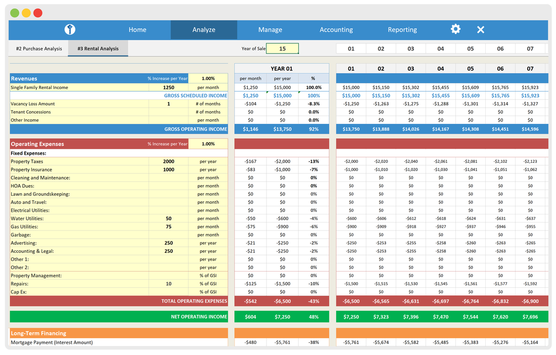 Rental Property Spreadsheets